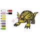 Armadillomon Digimon Embroidery Design